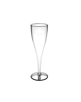 """flÛtes injectÉes """"champagne"""" petites 100 ml transparent cristal ps (180 unitÉ)"""