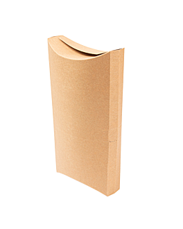 container for tacos 250 gsm 19,5x12,5x3 cm brown cardboard (500 unit)