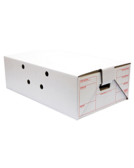 cases for transport 59,5x37x19 cm white cardboard (15 unit)