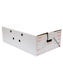 scatola per trasporto 59,5x37x19 cm bianco cartone (15 unitÀ)