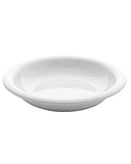 assiettes creuses Ø 25,4x5 cm blanc melanine (24 unitÉ)