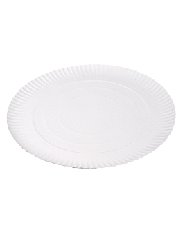 piatti goffrati pasticceria Ø 34 cm bianco cartone (50 unitÀ)