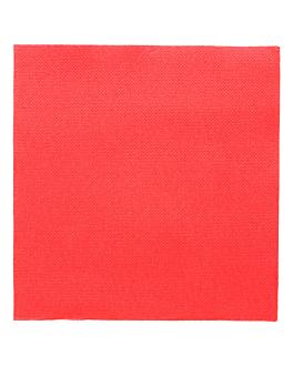 servilletas ecolabel 'double point' 18 g/m2 33x33 cm rojo tissue (1200 unid.)