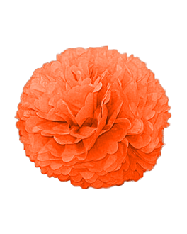 pom pom flower Ø 48 cm naranja (10 unid.)
