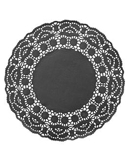 dentelles rondes ajourÉes 40 g/m2 Ø 21,5 cm noir papier (250 unitÉ)