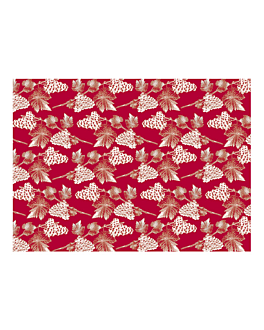 "manteles ""chardonnay"" 48 g/m2 70x70 cm rojo celulosa (500 unid.)"