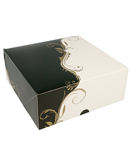 cake boxes without window 275 gsm 18x18x7,5 cm white cardboard (50 unit)