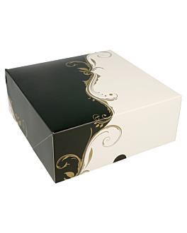 boÎtes patisseries sans fenÊtre 275 g/m2 18x18x7,5 cm blanc carton (50 unitÉ)