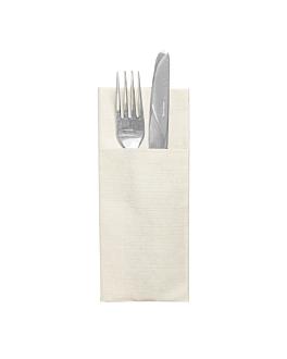 """serviettes """"cangurito"""" 'like linen' 70 g/m2 33x40 cm creme spunlace (700 unitÉ)"""