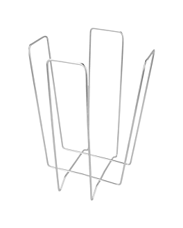 distributeur serviettes 11x11x18 cm argente fil metallique (1 unitÉ)