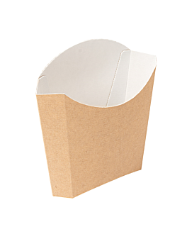 chip boxes standard 'thepack' 135 g 220 gsm 13x8x13,5 cm natural nano-micro corrugated cardboard (1200 unit)