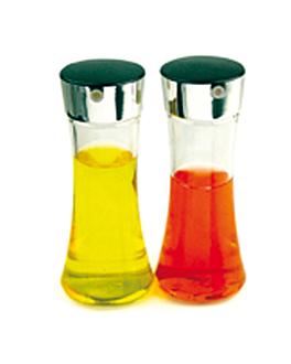 2 aceiteras 200 ml Ø 6,5x16,5 cm transparente cristal (1 unid.)