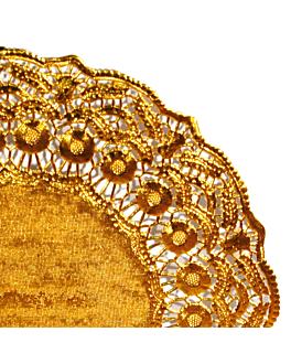 rundes zierdeckchen metallisiert 40 g/m2 + 20 g/m2 Ø 37 cm goldfarben lithographie metallisiert (100 einheit)