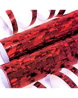 2x18 serpentinas 7mmx4m rojo papel (1 unid.)