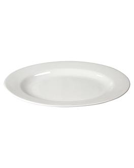 plats ovales 40 cm blanc porcelaine (12 unitÉ)