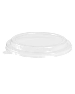 couvercles pour saladiers 204.07 'bionic' Ø 16,3x3,5 cm transparent pet (400 unitÉ)