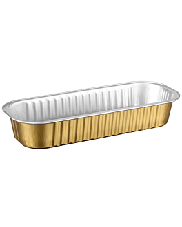 recipientes pastelerÍa 200 ml 16,5x6,5x3 cm oro aluminio (100 unid.)
