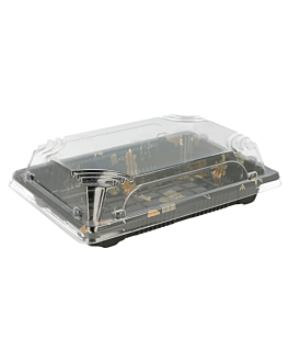 "recipientes para ""sushi"" 17x12,3x4,5 cm negro ps (600 unid.)"