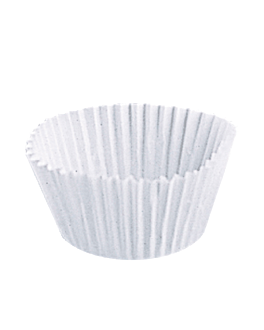 pirottini 'petits fours' 50 g/m2 Ø 5x3,5 cm bianco pergamana antigrassi (500 unitÀ)