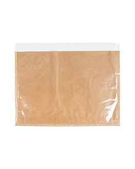 deli pack 35 g/m2 + 13 pp 28x22/20 cm natural kraft (500 unid.)
