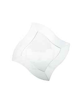 recipientes cuadrados irregulares 25,5 cm transparente ps (150 unid.)