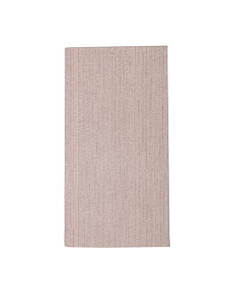 napkins 1/8 fold 'like linen' 70 gsm 40x40 cm chocolate spunlace (600 unit)