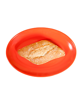 oval dishes 25,5x18 cm red melamine (15 unit)
