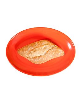 assiettes ovales 25,5x18 cm rouge melanine (15 unitÉ)