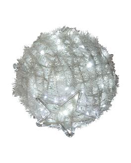 bola gigante 1200 leds Ø 120 cm blanco (1 unid.)