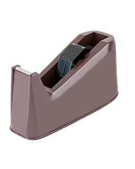 dispensador para fita adesiva 21x8,5x10 cm preto plÁstico (1 unidade)