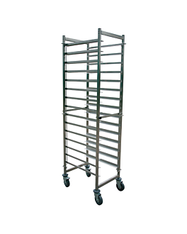trolley for plates g/n 2/1 15 levels 59x66x190 cm silver stainless steel (1 unit)