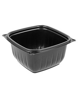 boles cuadrados 'presenta' 480 ml 12,75x6,4 cm negro pp (504 unid.)