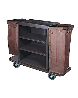 trolley without doors + 2 bags 144x52x102,5 cm brown iron (1 unit)
