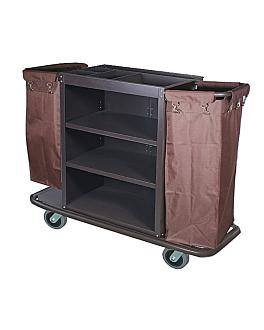 chariot sans portes + 2 sacs 144x52x102,5 cm marron fer (1 unitÉ)