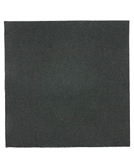tovaglioli ecolabel 'double point' 18 g/m2 20x20 cm nero tissue (2400 unitÀ)
