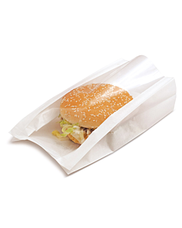 sachets avec fenÊtre 'pack delicatessen' 50 g/m2 + 15 pp 16x11+5x21 cm blanc kraft (100 unitÉ)