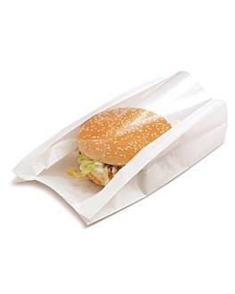 bolsas con ventana 'pack delicatessen' 50 g/m2 + 15 pp 16x11+5x21 cm blanco kraft (100 unid.)