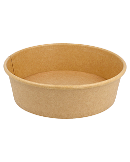 salad bowls 1300 ml 337 gsm + pe Ø 18,7/16x7 cm natural kraft (300 unit)