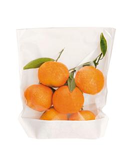 sachets avec base et fenÊtre 'turtle pack' 50 g/m2 + 15 pp 20x24/21x3,5 cm blanc kraft (100 unitÉ)