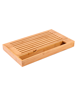 board for bread 40x24x4 cm natural bamboo (1 unit)