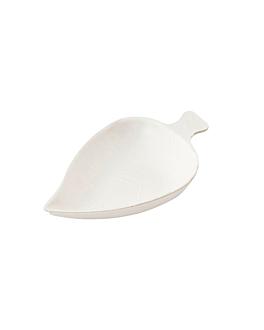 container-leaf 'bionic' 9x6x1,2 cm white bagasse (1000 unit)