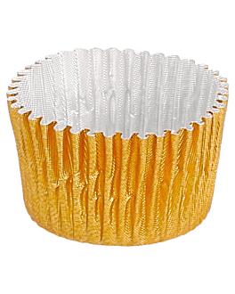 pirottini 'petits fours' Ø 2,4x1,7 cm oro alluminio (1000 unitÀ)