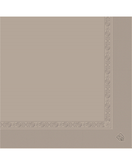 serviettes ecolabel 2 plis 18 g/m2 39x39 cm taupe ouate (1600 unitÉ)