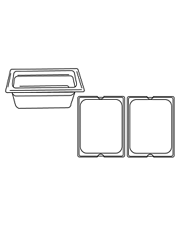 gastronorm pan 1/2 5,6 l 32,5x26,5x10 cm silver stainless steel (1 unit)