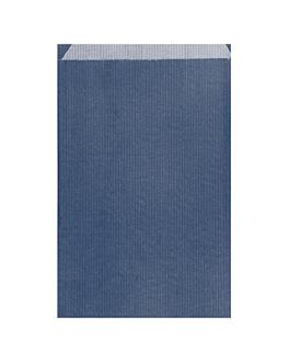 bolsas planas 26+9x38 cm azul marino kraft verjurado (250 unid.)
