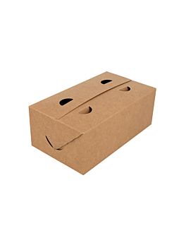 take away boxes 1 l 300 gsm 11x18x7 cm brown cardboard (50 unit)