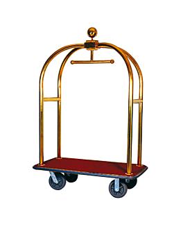 birdcage luxury luggage trolley 113,5x62,5x190 cm gold brass (1 unit)