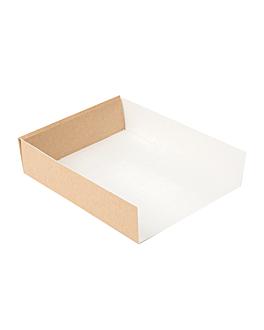 vaschette diversi usi 'thepack' 220 g/m2 15x12x3,5 cm naturale cartone ondulato a nano-micro (800 unitÀ)