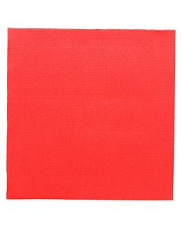 tovaglioli ecolabel 'double point' 18 g/m2 39x39 cm rosso tissue (1200 unitÀ)
