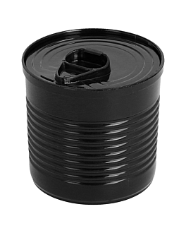 tin cans 60 ml Ø 5,1x4,8 cm black ps (200 unit)